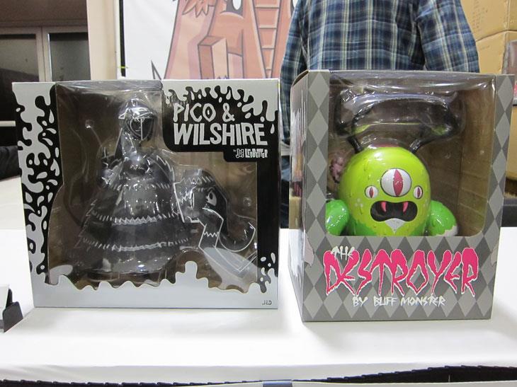 Buff Monster and Joe Ledbetter toys
