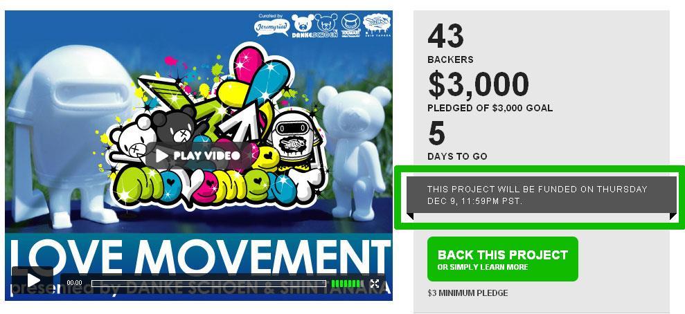Love Movement Funded on Kickstarter!