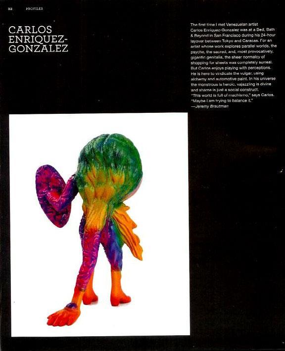 Carlos Enriquez-Gonzalez in February's Juxtapoz