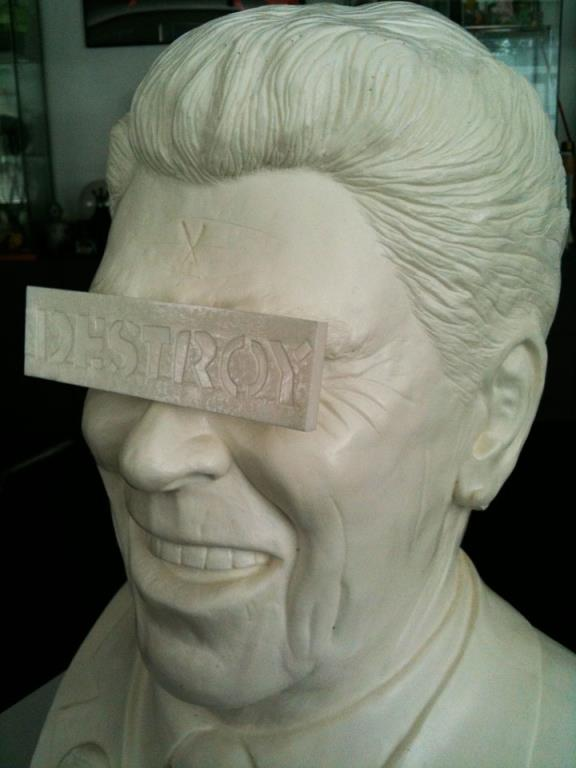 Frank Kozik's The Gipper Ronald Reagan Bust