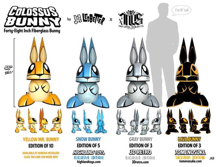 Joe Ledbetter Colossus Bunny: 4-foot fiberglass