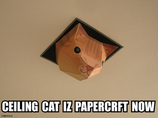 Ceiling Cat Papercraft by Tubbypaws