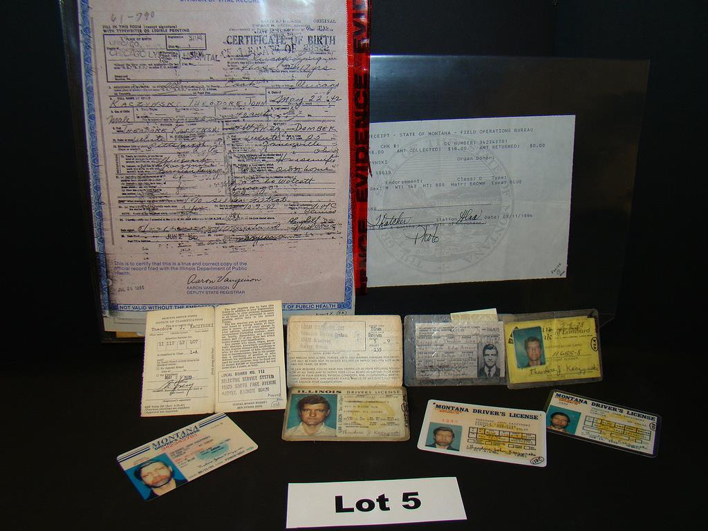 Unabomber auction items