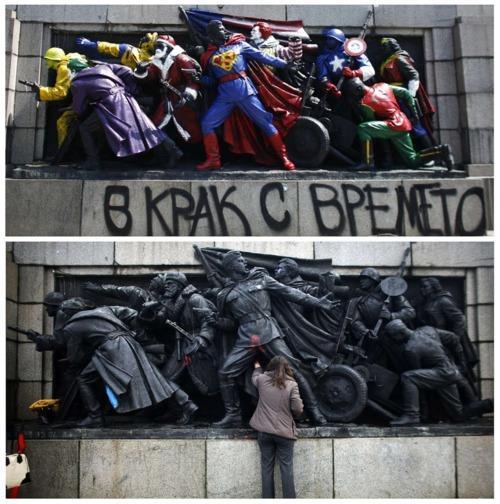 """Bulgarian Banksy"" Turns Red Army into Americana"