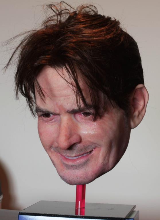 Charlie Sheen mask by Landon Meier