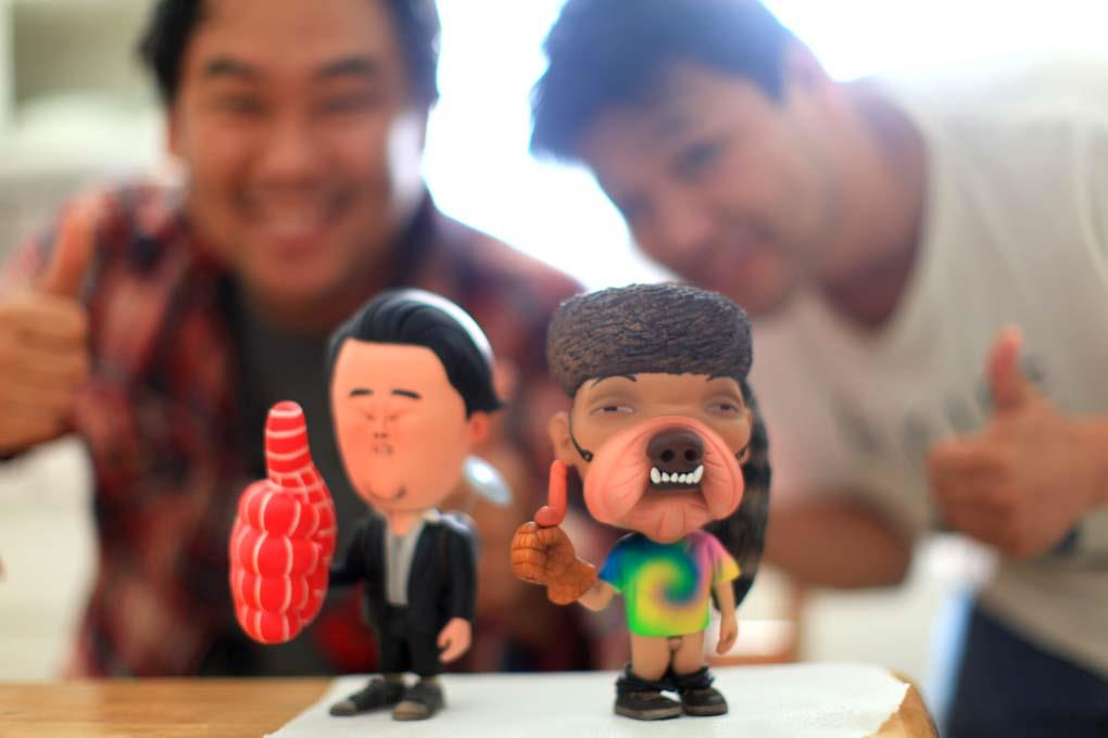 David Choe and Harry Kim by Wilfrid Wood
