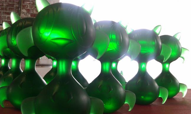 Emerald Curiosity Resins by Nathan Hamill