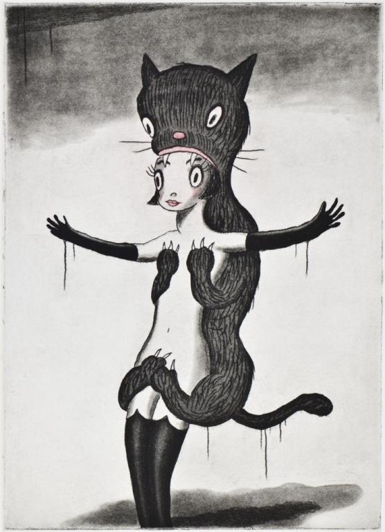 La Chat Noir by Gary Baseman
