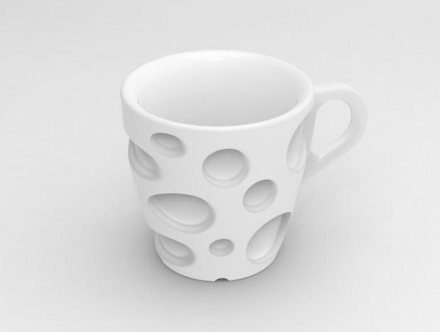 Emmental 3D Printed Coffee Cups