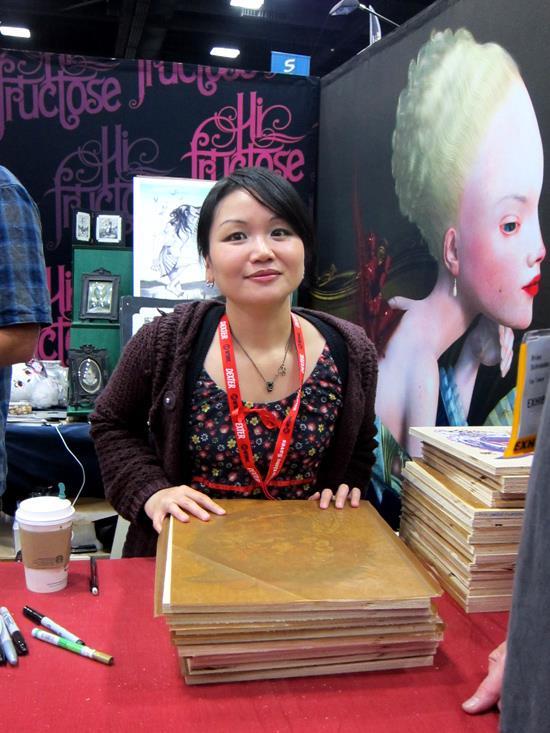 Junko Mizuno at Hi-Fructose at SDCC 2011