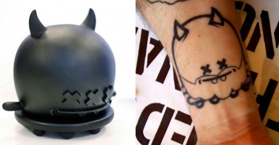Tattoos inspired by art: Buff Monster by Buff Monster.