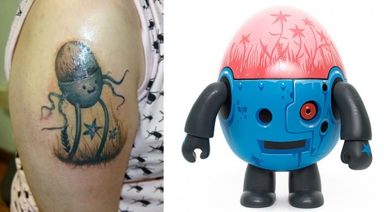 Tattoos inspired by art: Terrarium Keeper by Jeff Soto.