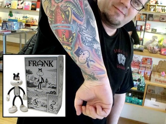 Tattoos inspired by art: Frank by Jim Woodring.