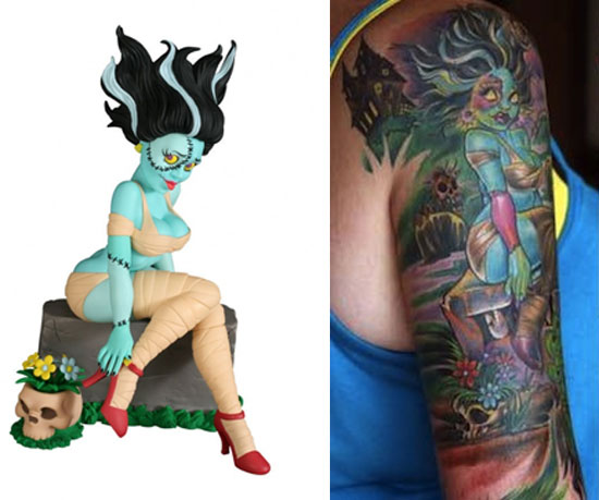 Tattoos inspired by art: The Bride by Joe Capobianco. Tattoo by Joe Capobianco. Flesh canvas by Nichole.