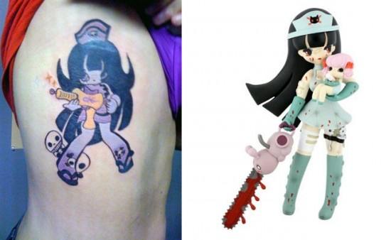 Tattoos inspired by art: Kaori the Nurse by Junko Mizuno.