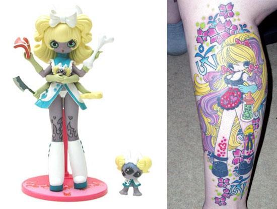 Tattoos inspired by art: Fumi by Junko Mizuno.