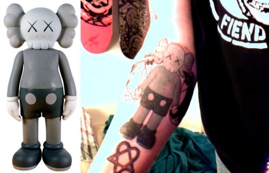 Tattoos inspired by art: Companion by KAWS.