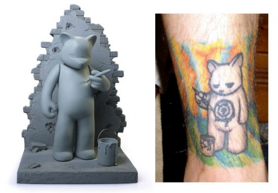 Tattoos inspired by art: Target by Luke Chueh.