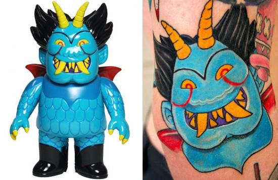 Tattoos inspired by art: Ojo Rojo by Martin Ontiveros. Tattoo by Wil @ Randy Adams Tattoo Studio (Ft. Worth, Texas). Flesh canvas by Jeff.