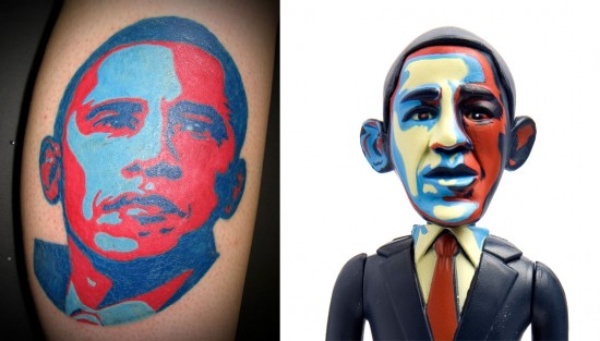 Tattoos inspired by art: Hope Obama by Shepard Fairey (and also Jailbreak Toys).