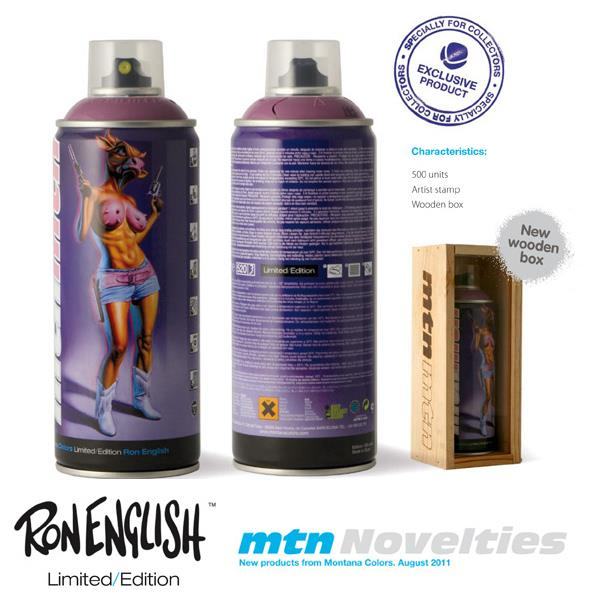Ron English's Limited Edition Montana Cans
