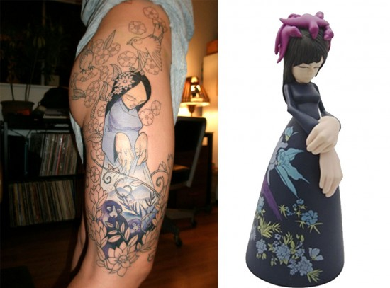 Tattoos inspired by art: Fatima by Sam Flores.