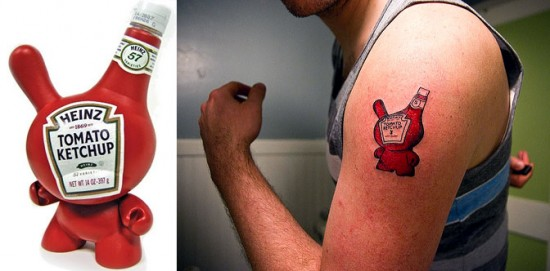 Tattoos inspired by art: Sketchup Dunny by Sket One.