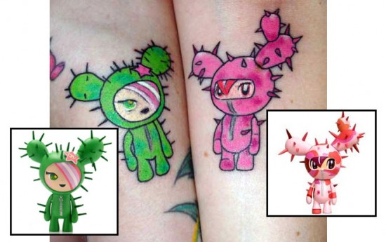 Tattoos inspired by art: Cactus Friends by tokidoki