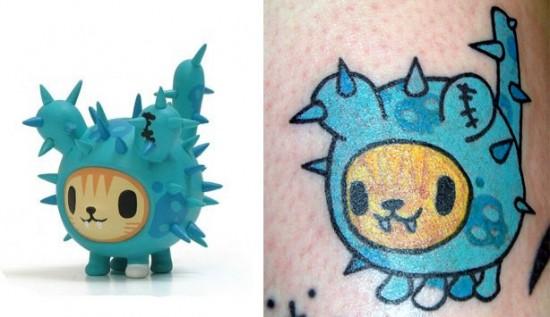 Tattoos inspired by art: Cactus Pup by tokidoki
