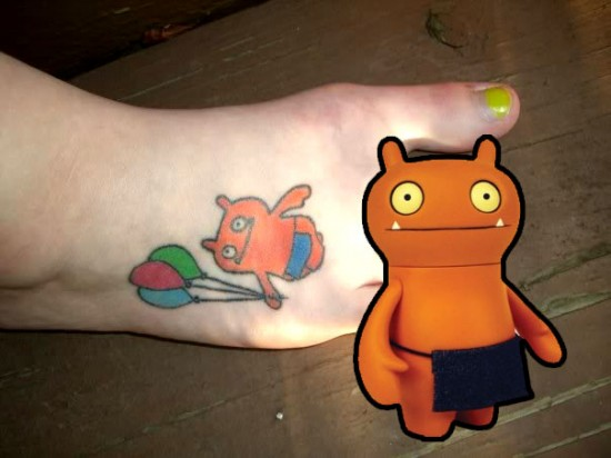 Tattoos inspired by art: Wage by Uglydolls. Flesh canvas by weeg3.