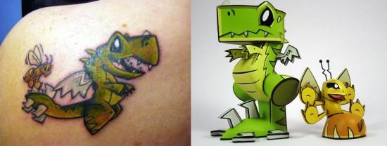 Tattoos inspired by art: Wrecks and Dazey by Joe Ledbetter.
