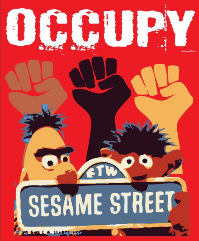 Occupy Sesame Street © Frank Kozik