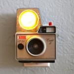 Vintage cameras turned into night lights by Jason Hull