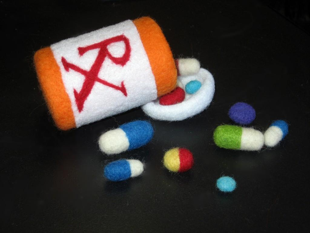 Needle-felted Pharmaceuticals