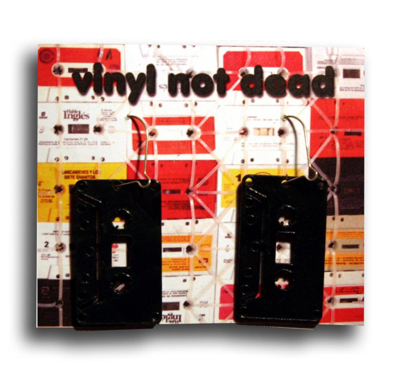 Vinyl Not Dead Cassette Earrings