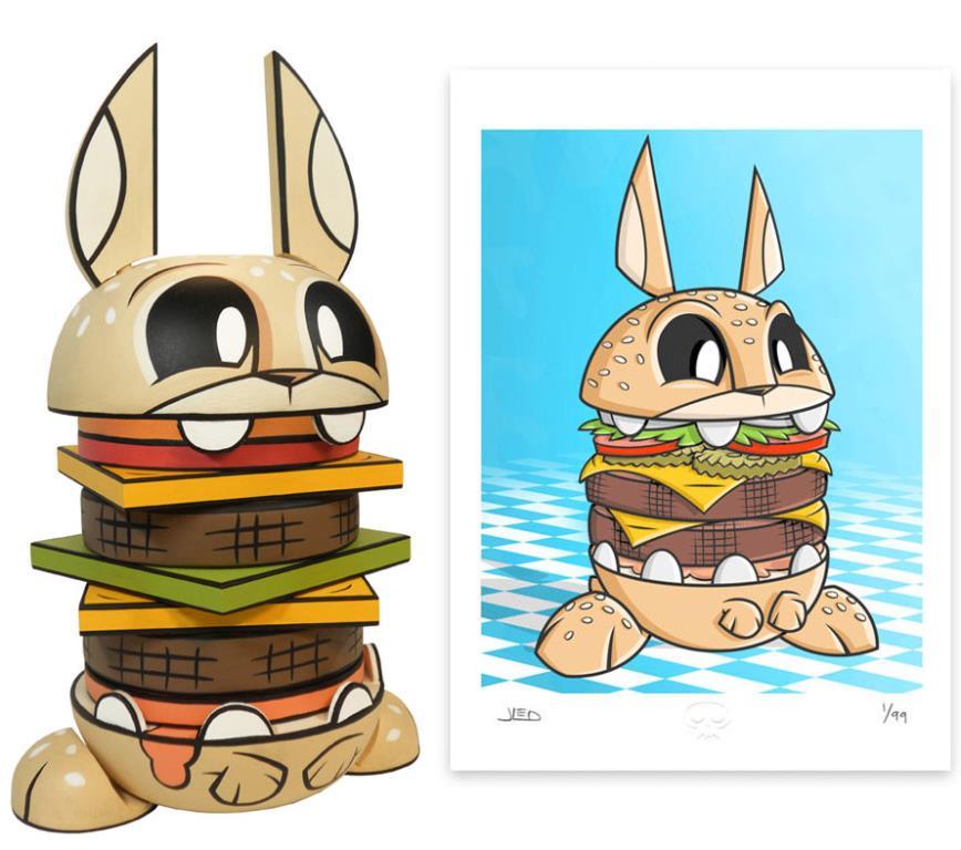 Wooden Burgerbunny by Joe Ledbetter