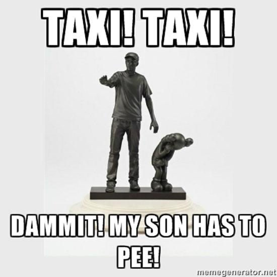 KAWS statue meme