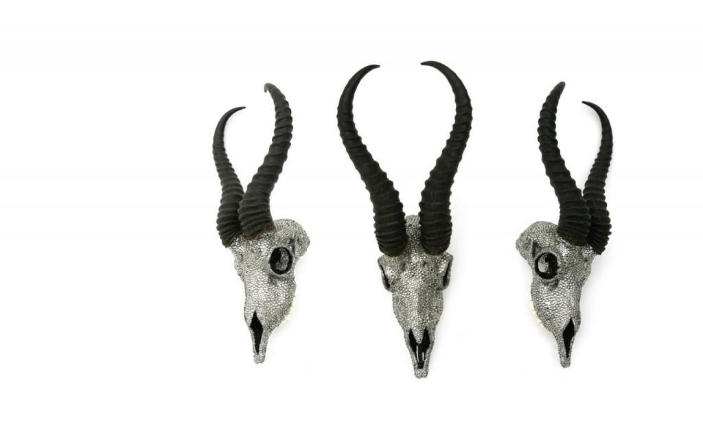 Swarovski Crystal Taxidermy Skulls by Peter Pracilio
