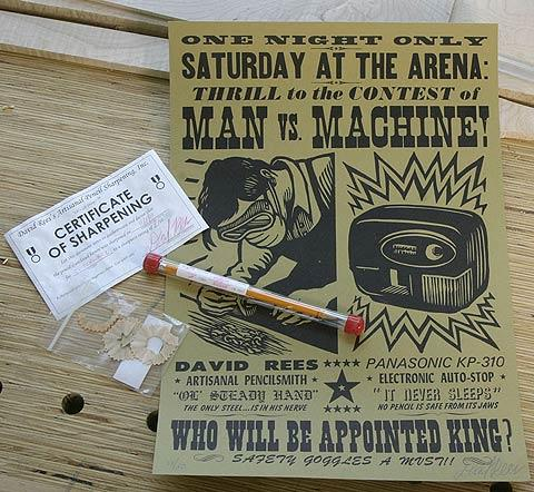 Artisanal pencil sharpening by David Rees