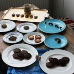 Dominic Wilcox eating like an anglophile for Jaffa Cakes