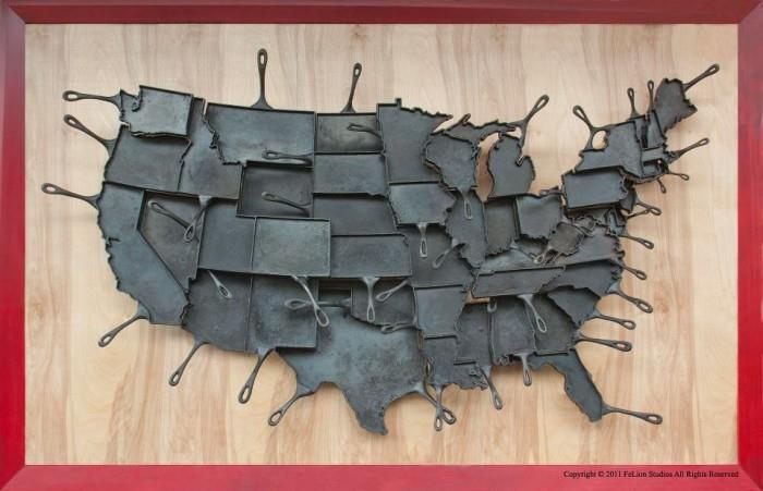 Food art Made in America pans by FeLion
