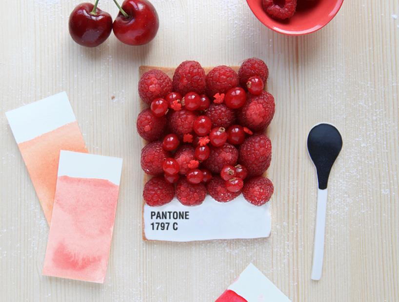 Pantone Tarts food art by Emilie de Griottes