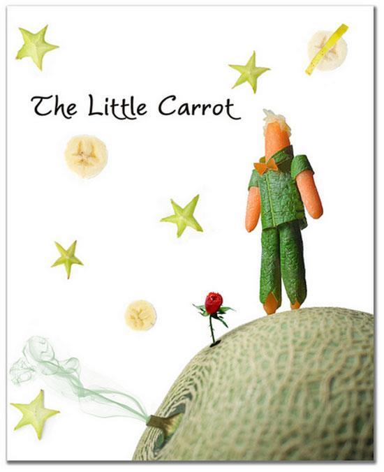 Little Prince Carrot book art photo by Vanessa Dualib