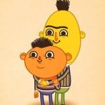 Pop Culture Art: Bert and Ernie