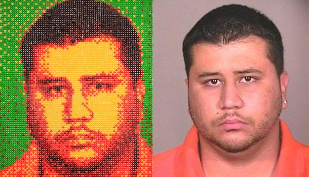 George Zimmerman in Skittles by Andy Bell
