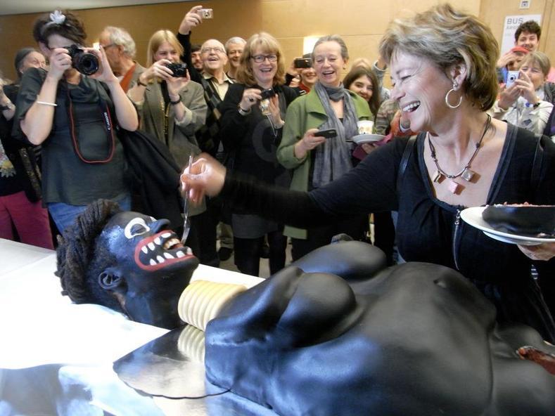 Makode Linde & Swedish Minister of Culture, Lena Adelsohn Liljeroth
