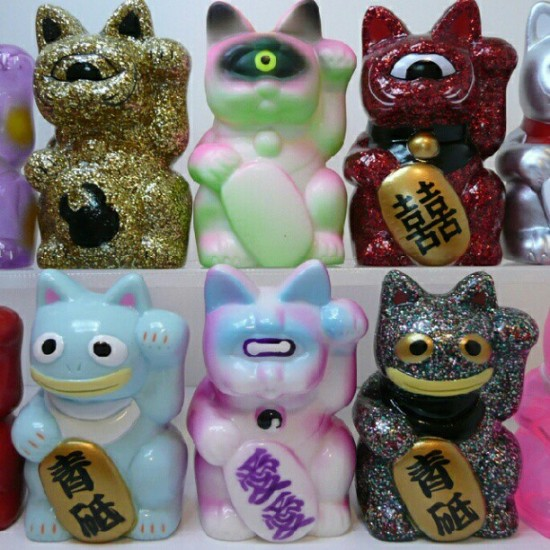 Maneki Neko Lucky Cats from the collection of @debparis1