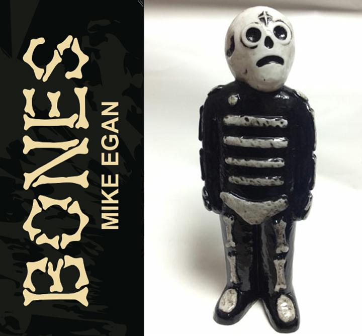 Bones sofubi by Mike Egan x Grody Shogun