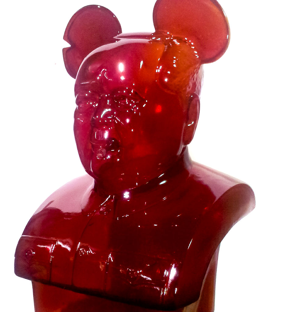 Clear Red Mao Bust by Frank Kozik x Veracious Vinyl