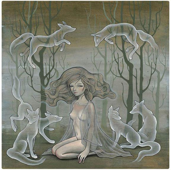"""Lili and Her Ghosts"" by Audrey Kawasaki"